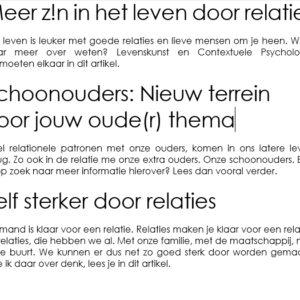 Artikelen van een relatietherapeut