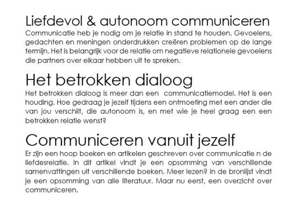 3 van de 4 artikelen over gespreksvoering